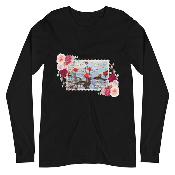 Women's Floral Bangladesh Stamped Long-Sleeve