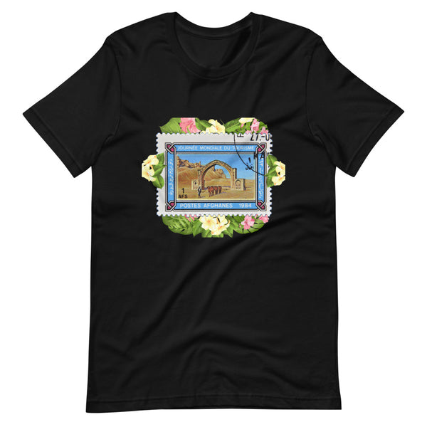 Women's Afghanistan Pride Stamped Short-Sleeve