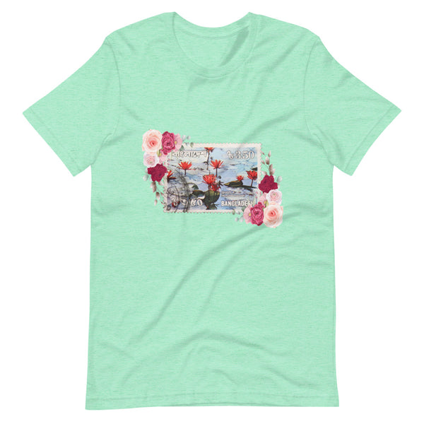 Women's Floral Bangladesh Stamped Short-Sleeve