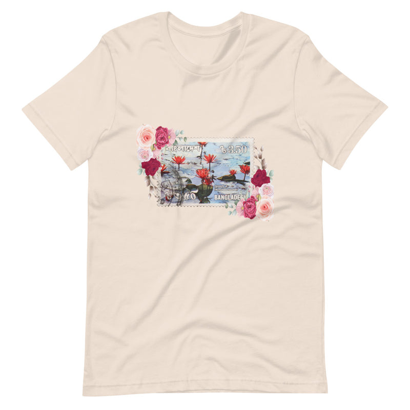 Men's Floral Bangladesh Stamped Short-Sleeve