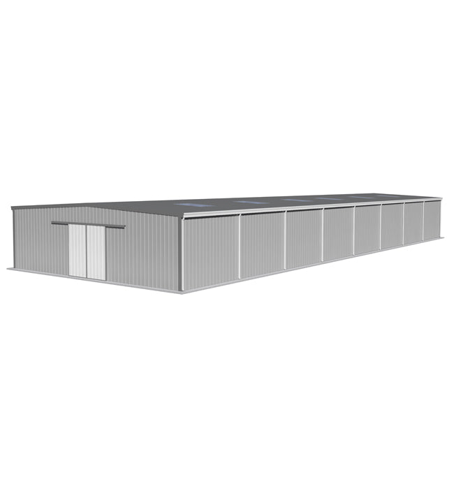18m(W)X 30m(L-Extendable)X 5m(H) Eave Gutters W/Insulated Sandwich Panel Clad Warehouse