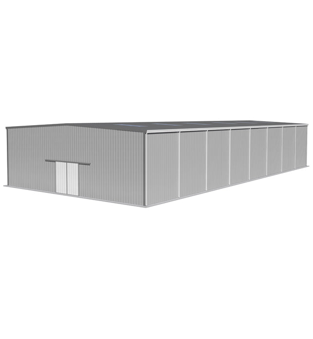 24m(W)X 30m(L-Extendable)X 8m(H) Eave Gutters & Single Skin Cladding Warehouse