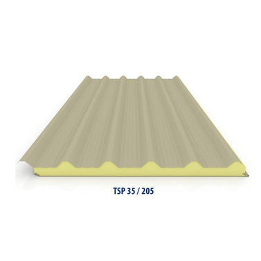35/250 Corrugated Insulated Sandwich Panel  with Aluminium Top Skin