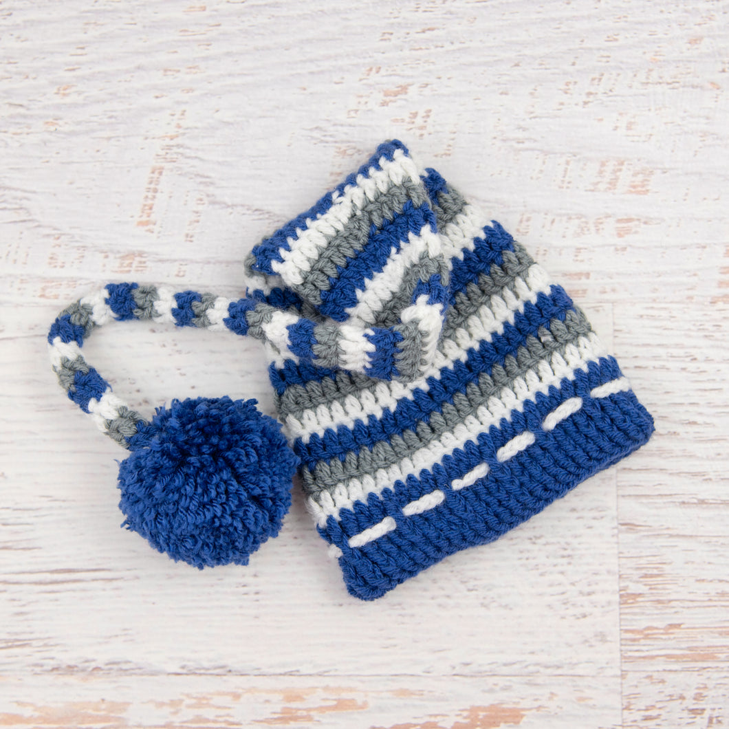 In-Stock 6-12 Month Boy Christmas Stocking Hat