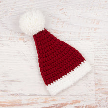 Load image into Gallery viewer, In-Stock 0-6 Month Christmas Santa Hat