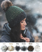 Load image into Gallery viewer, Faux Fur Two Tone Toque