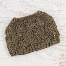 Load image into Gallery viewer, In-Stock 3-10 Year The 'Everyday' Messy Bun Hat in Barley