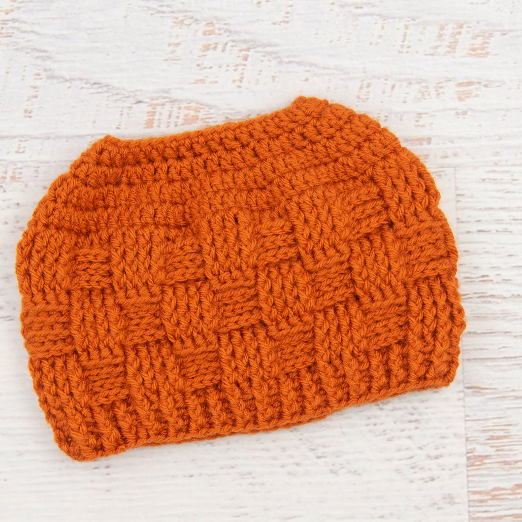 In-Stock 3-10 Year The 'Everyday' Messy Bun Hat in Orange