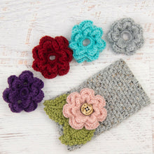 Load image into Gallery viewer, In-Stock 3-10 Year Garden Party Headband in Grey Marble with 5 Interchangeable Flowers