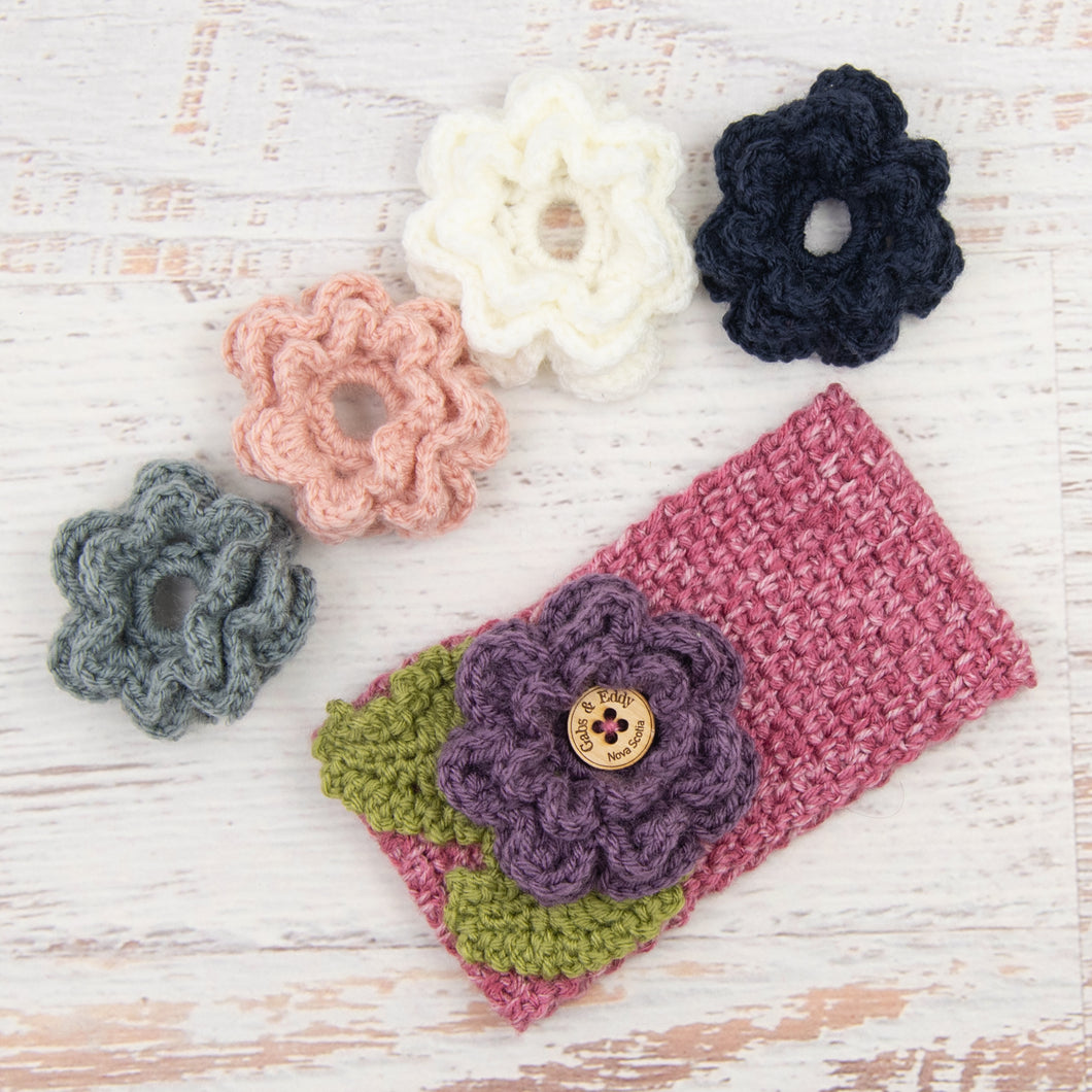 In-Stock 3-10 Year Garden Party Headband in Rose Mist with 5 Interchangeable Flowers