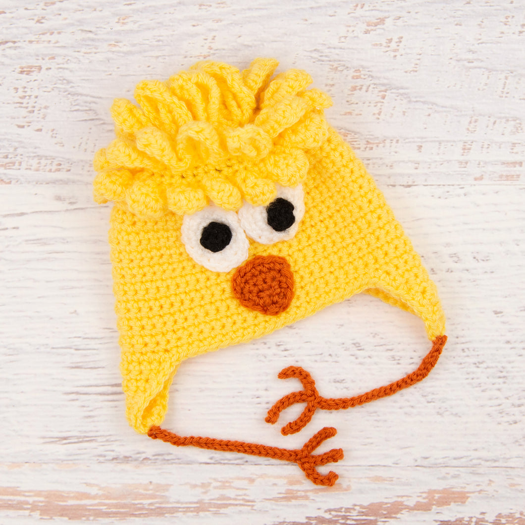 In-Stock 6-12 Month Chick Hat in Duckie Yellow