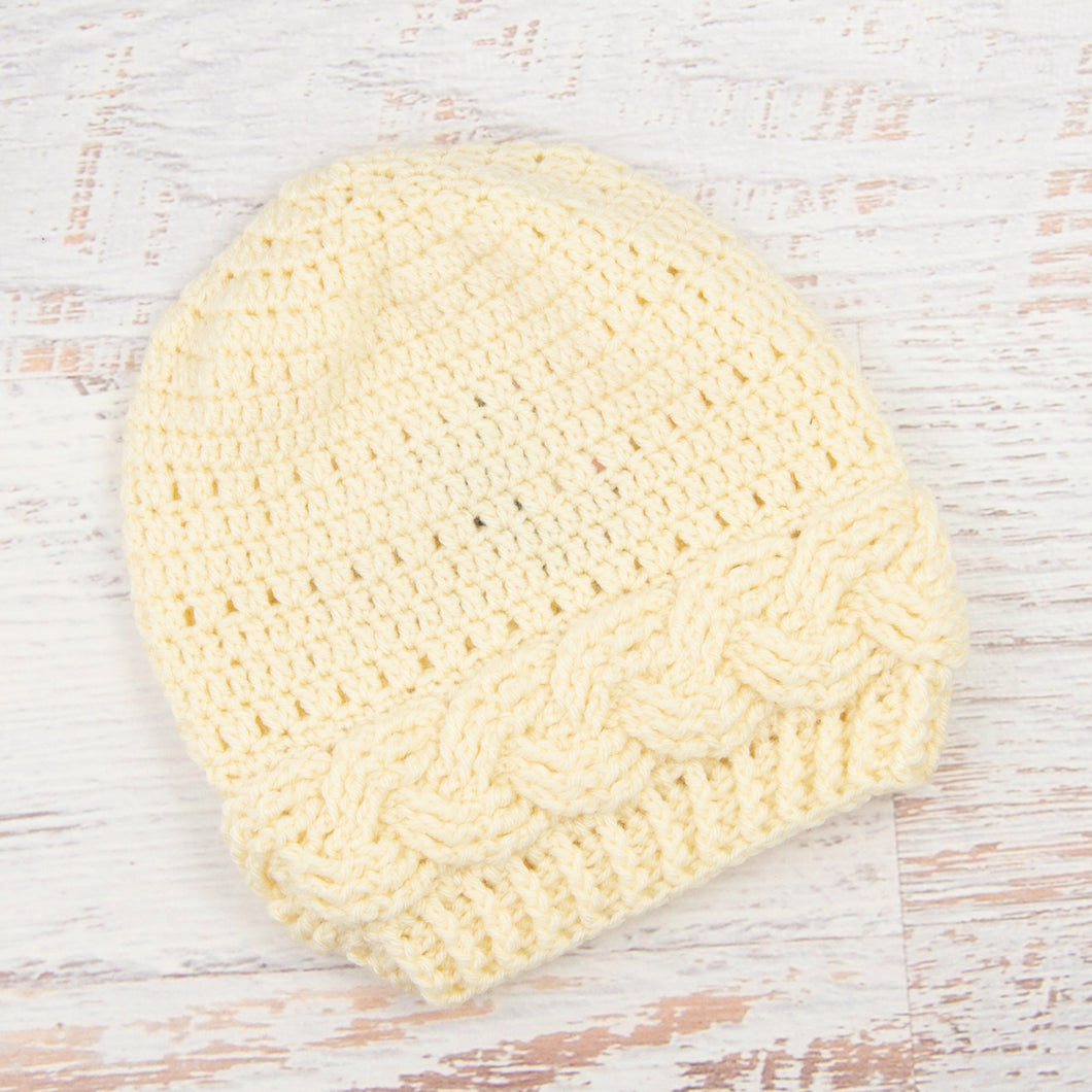In-Stock Cabled Slouchy Toque in Fisherman