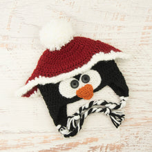 Load image into Gallery viewer, In-Stock 0-6 Month Christmas Penguin Hat