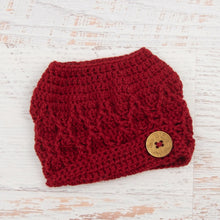 Load image into Gallery viewer, In-Stock 3-10 Year The 'Dressy' Messy Bun Hat in Cranberry