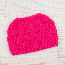 Load image into Gallery viewer, In-Stock The 'Everyday' Messy Bun Hat in Rose Shocking