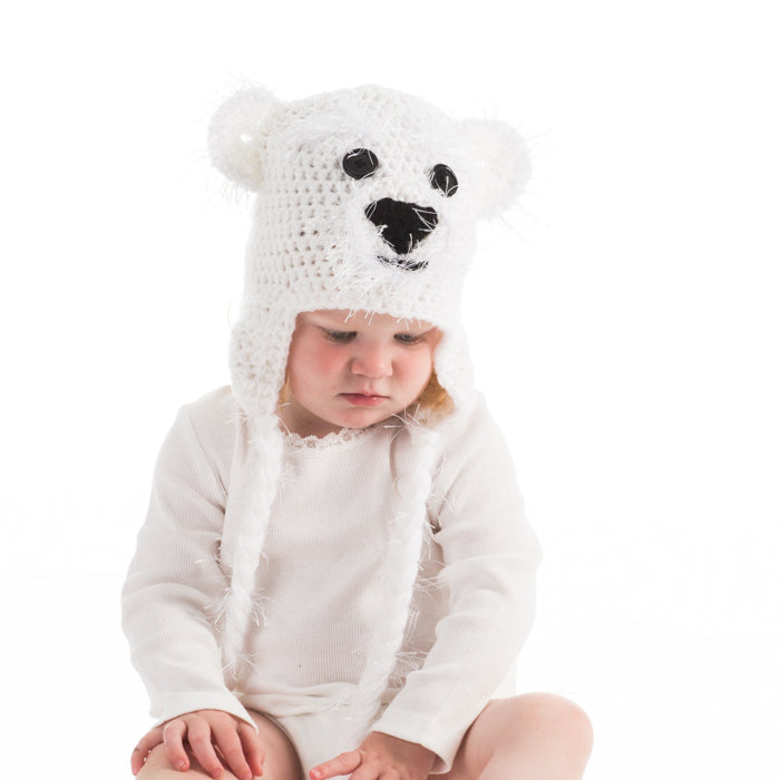 In-Stock 0-6 Month Fuzzy Polar Bear