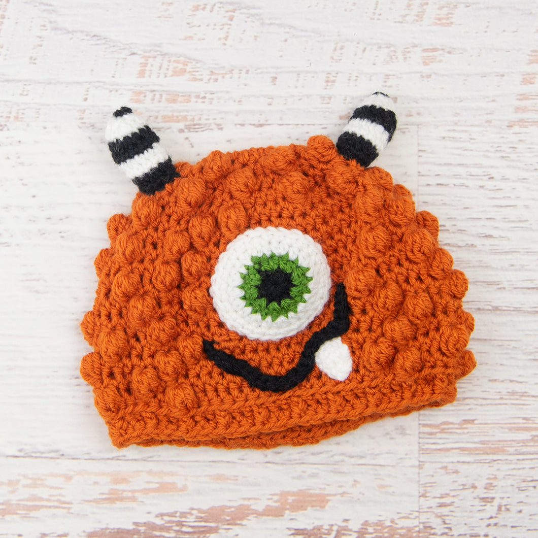 In-Stock 1-3 Year Little Monster in Orange with Fern Eye