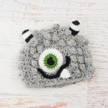 Load image into Gallery viewer, In-Stock 6-12 Month Little Monster in Grey Marble with Kelly Green Eye