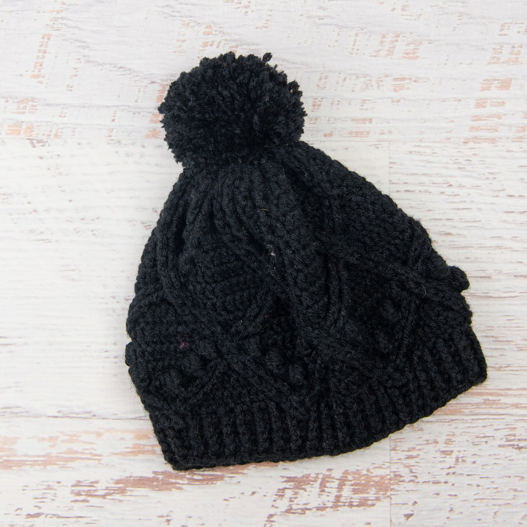 In-Stock Pretty Little Pom Pom Toque in Black