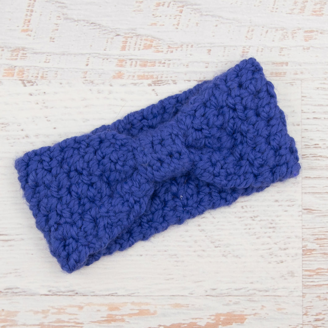 In-Stock Knotty Headband in Cobalt