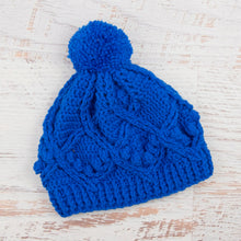 Load image into Gallery viewer, In-Stock Pretty Little Pom Pom Toque in Electric Blue