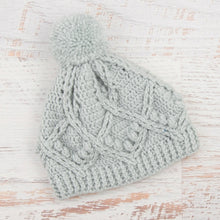 Load image into Gallery viewer, In-Stock Pretty Little Pom Pom Toque in Pale Grey
