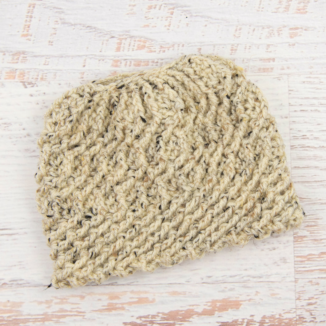 In-Stock Swirly Messy Bun Hat in Oatmeal