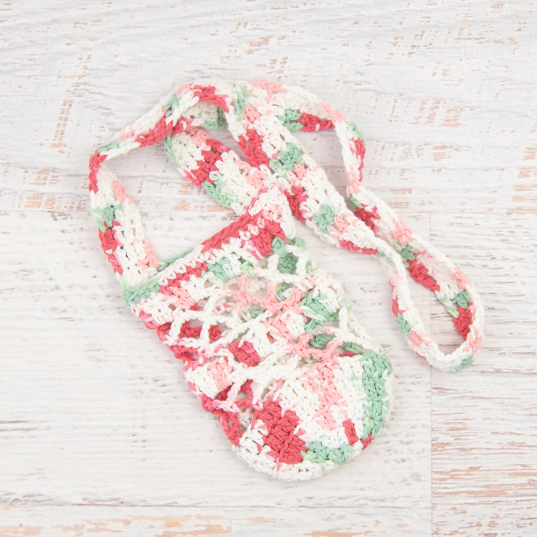 In-Stock 100% Cotton Boho Water Bottle Holder in Watermelon
