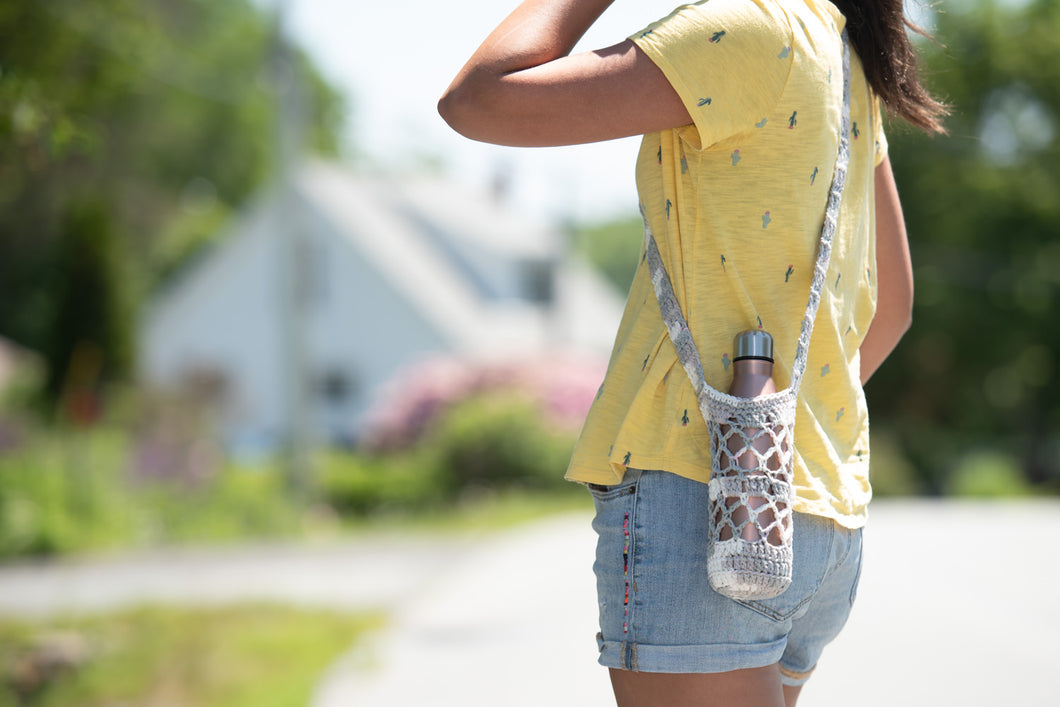 100% Cotton Boho Water Bottle Holder