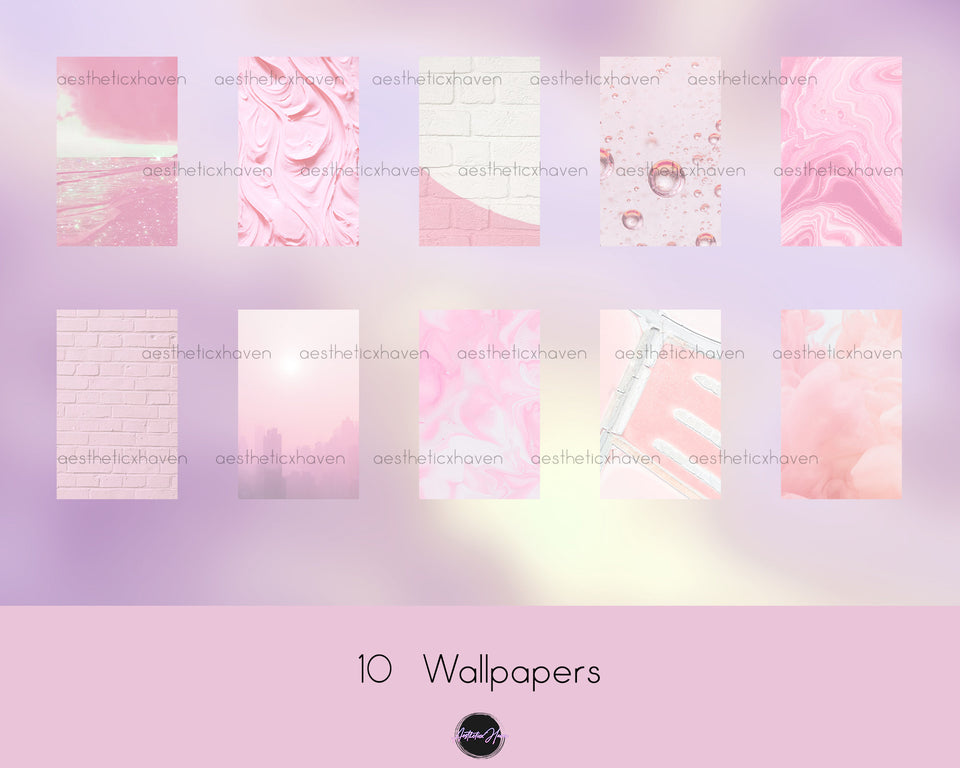 Boho Pink Aesthetic iOS 14 iPhone App Icons