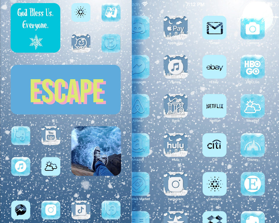 Winter Aesthetic iOS 14 iPhone App Icons