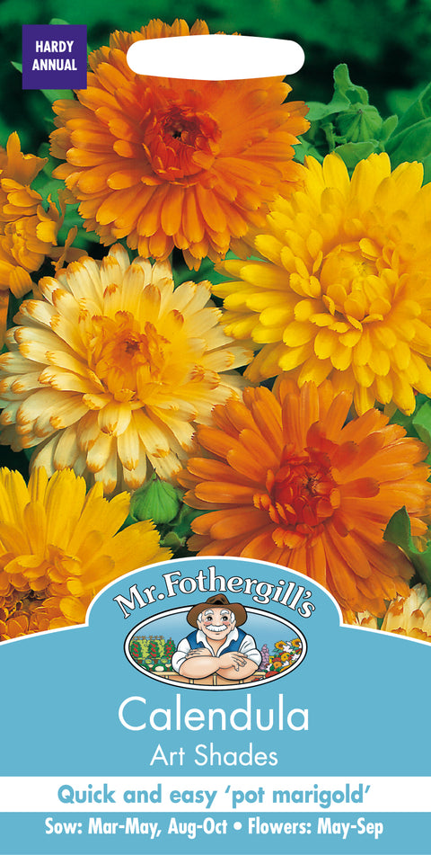 Mr Fothergills Calendula Art Shades Seeds