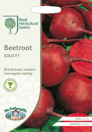 Mr Fothergills RHS Beetroot Solo F1 Seeds