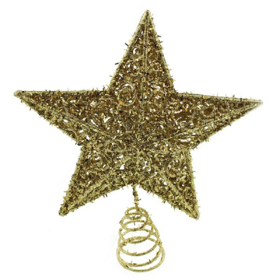 20cm Star Tree Topper Gold