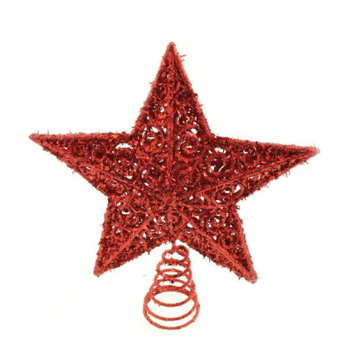 20cm Star Tree Topper Red