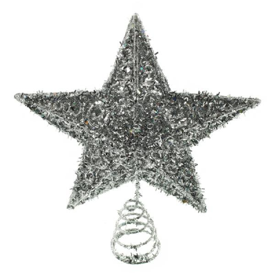 20cm Star Tree Topper Silver