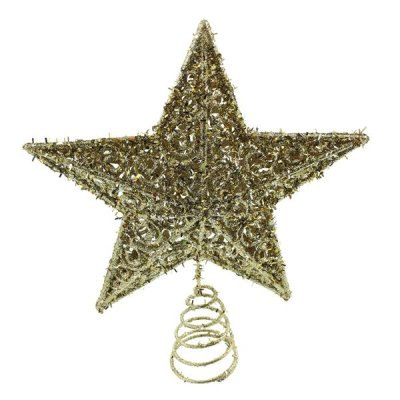 20cm Star Tree Topper Champagne