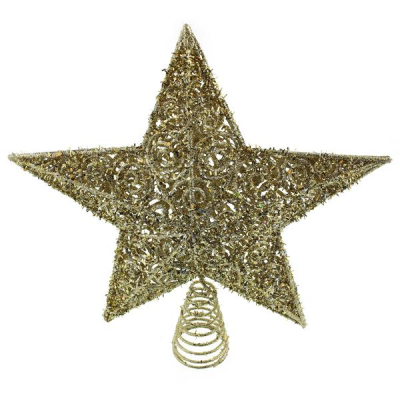 30cm Star Tree Topper Champagne