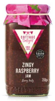 Cottage Delight - Marmalades and Jams - Zingy Raspberry Jam 350g