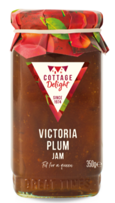 Cottage Delight - Marmalades and Jams - Victoria Plum Jam 350g