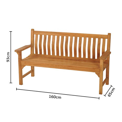 Curved Back, Flat Arm 3 Seat Bench