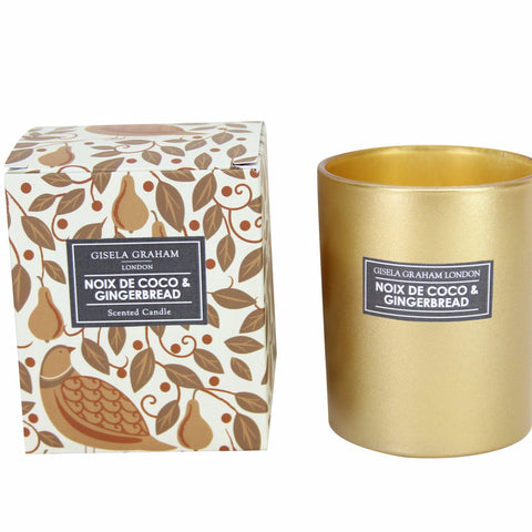 Gisela Graham Candle Boxed Partridge/Pear Tree Gold