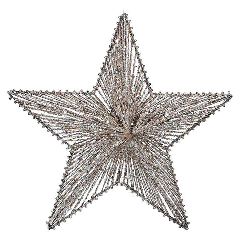 Gisela Graham Hanging Star Gold Glitter Wire Large