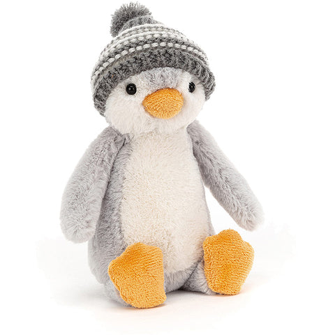 Jelly Cat Penguin Bashful Bobble Hat Grey