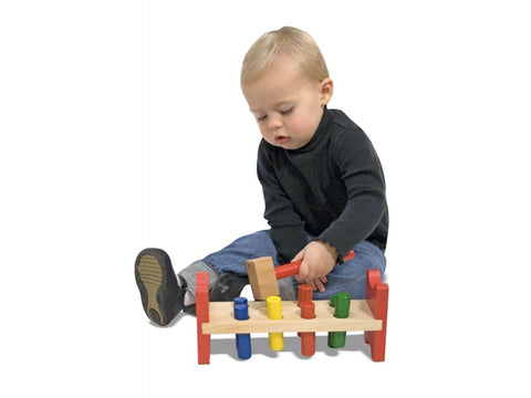 Melissa & Doug Wooden Toy Pound A Peg