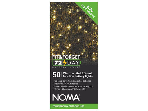Noma Lights Battery Fit & Forget Warm White 50
