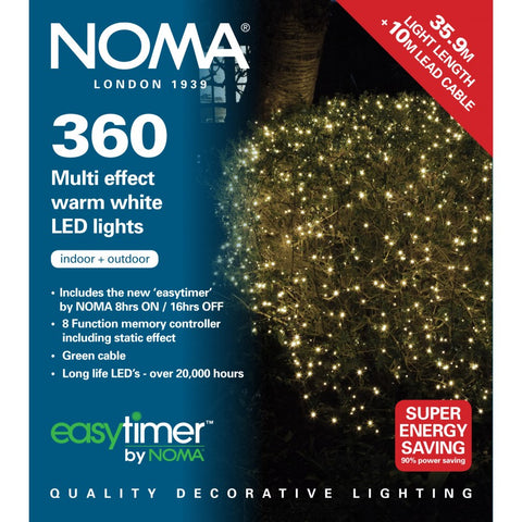 Noma Lights LED Warm White/Green Cable 360