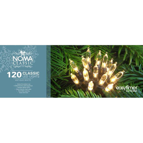 Noma Lights LED White/Green Cable 120