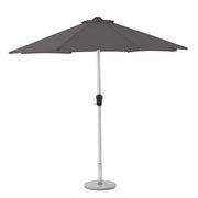 Brushed Aluminium 3.0M Crank Parasol - Grey
