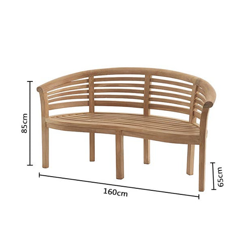 Pimlico Banana Bench with Taupe Cushion (Set)
